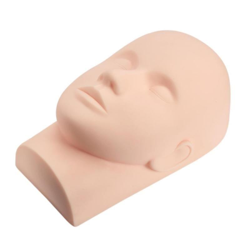 Mannequin tête plate pour cils greffé maquillage des yeux greffe de cils pratique tête outil d'extension de cils modèle
