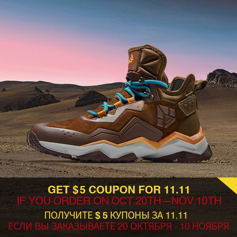 RAX Men's Waterproof Hiking Shoes Anti-slip Trekking Multi-terrian Mountaining Shoes for Professional Men's LeatherHikingBoots