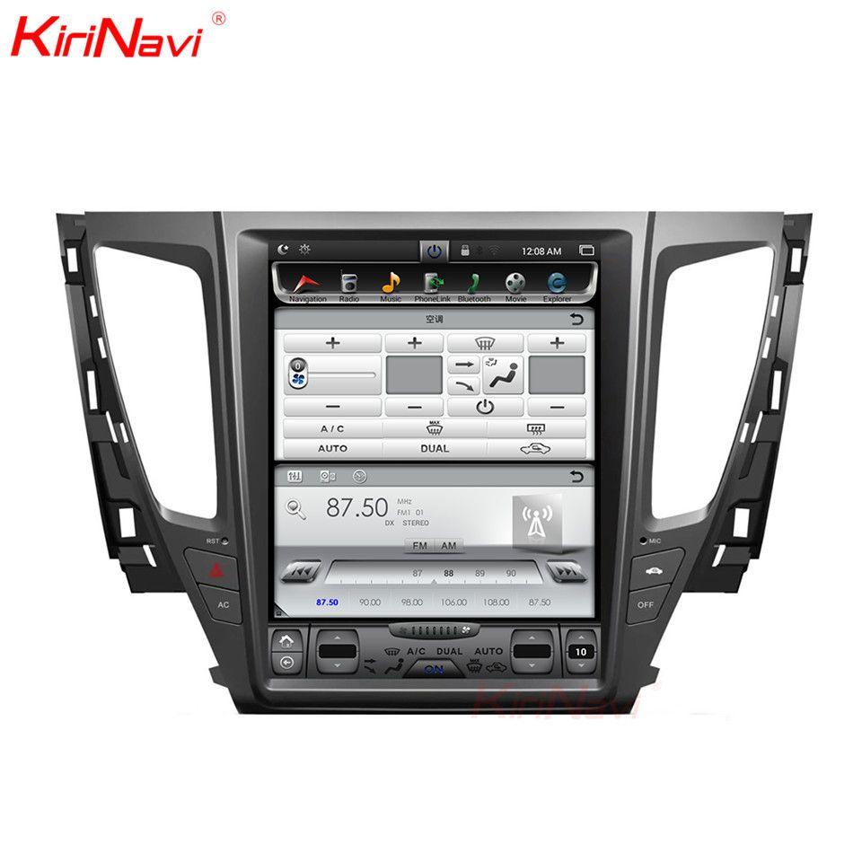 KiriNavi Vertikale Bildschirm Tesla Stil 12,1 zoll Auto MultimediaFor Mitsubishi Pajero Sport Montero Android Radio GPS Navigation MP3
