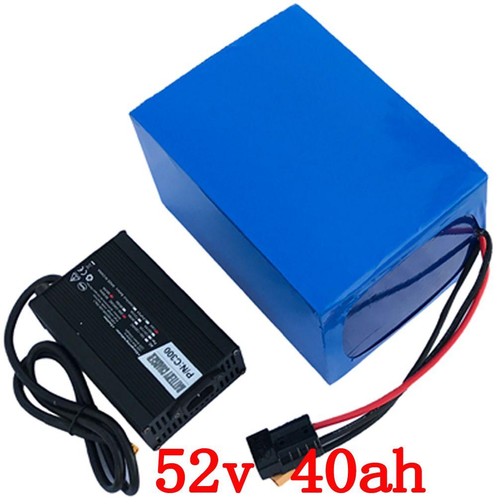 52 v batterie 52 v 40AH elektrische fahrrad batterie 52 v 40AH 2000 watt Lithium-Batterie Gebaut in 50A BMS mit 58,8 v 5A ladegerät