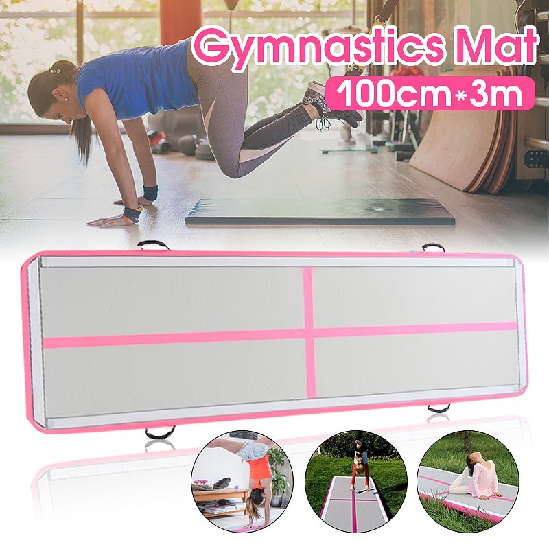 Gofun AirTrack 100x300x10cm Inflatable Tumble Track Trampoline Air Track Floor Home GYM Gymnastics Inflatable Air Tumbling Mat