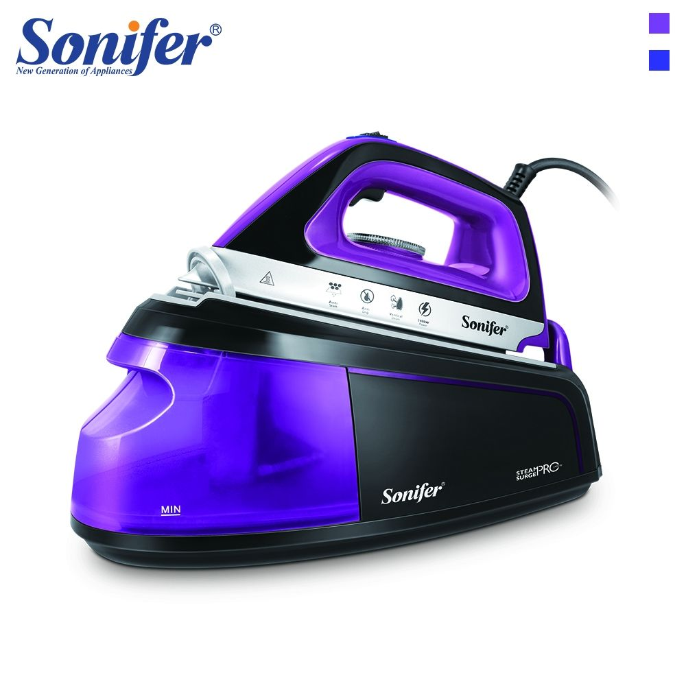 2400W colorful electric iron external water tank 220V hand-held steam iron ceramic non-stick bottom plate Sonifer