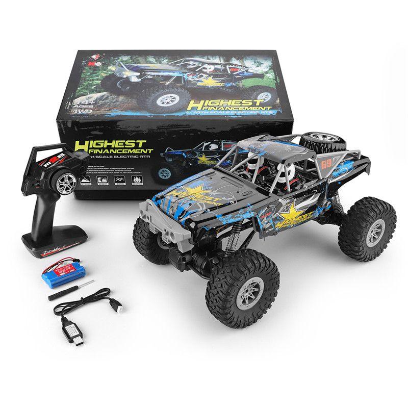 WLtoys 104310 RC Auto 2,4G 1/10 4WD Doppel Brücke Crawler RC Auto 40 Minis Mit Mit Sender Ladegerät 2019 neue Spielzeug Für Kinder