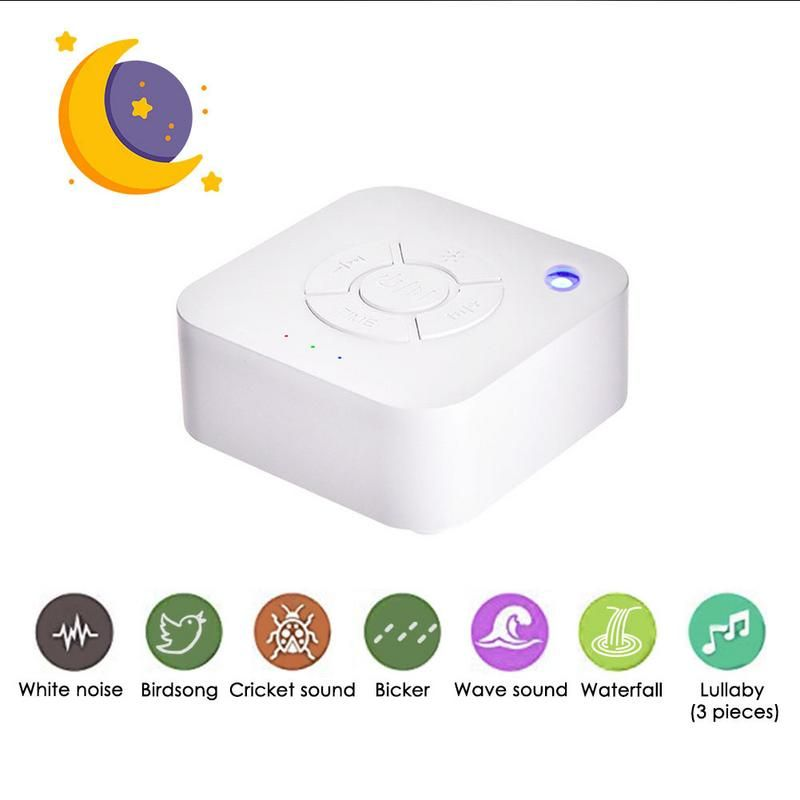 White Noise Machine USB Rechargeable Timed Shutdown Sleep Sound Machine For Sleeping Relaxation For Baby Adult Office Travel