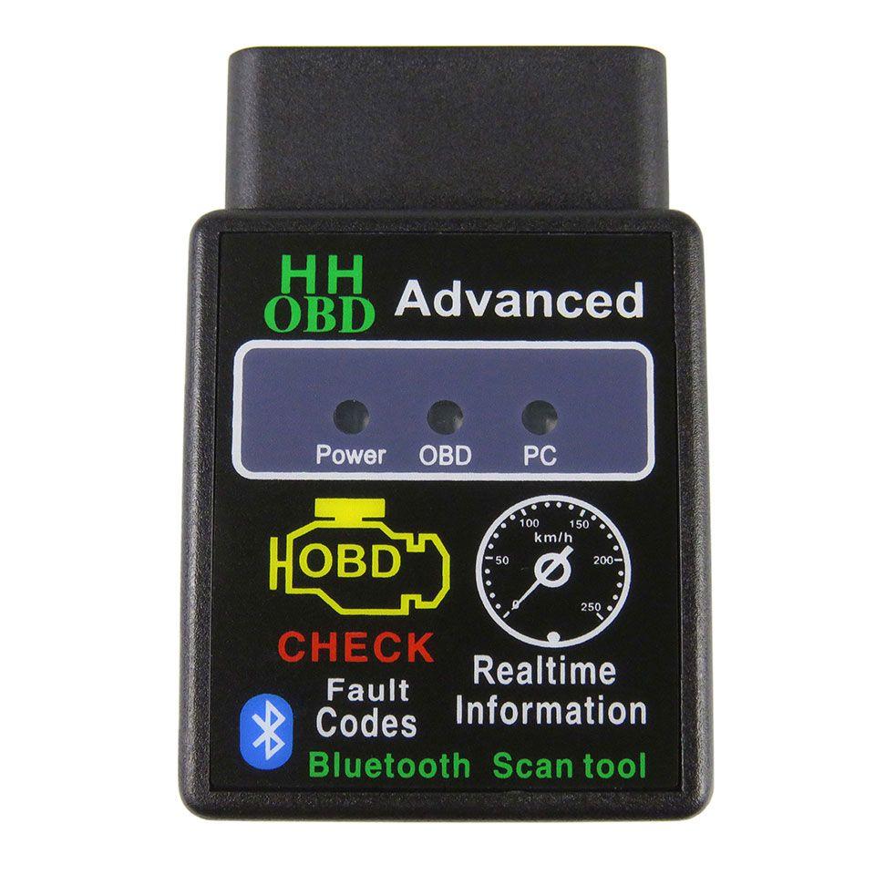 Avancée HH OBD ELM327 Bluetooth V1.5 OBD2 ORME 327 V 1.5 Scanner Diagnostique de voiture Pour Android/PC can bus obdii Outil de Diagnostic