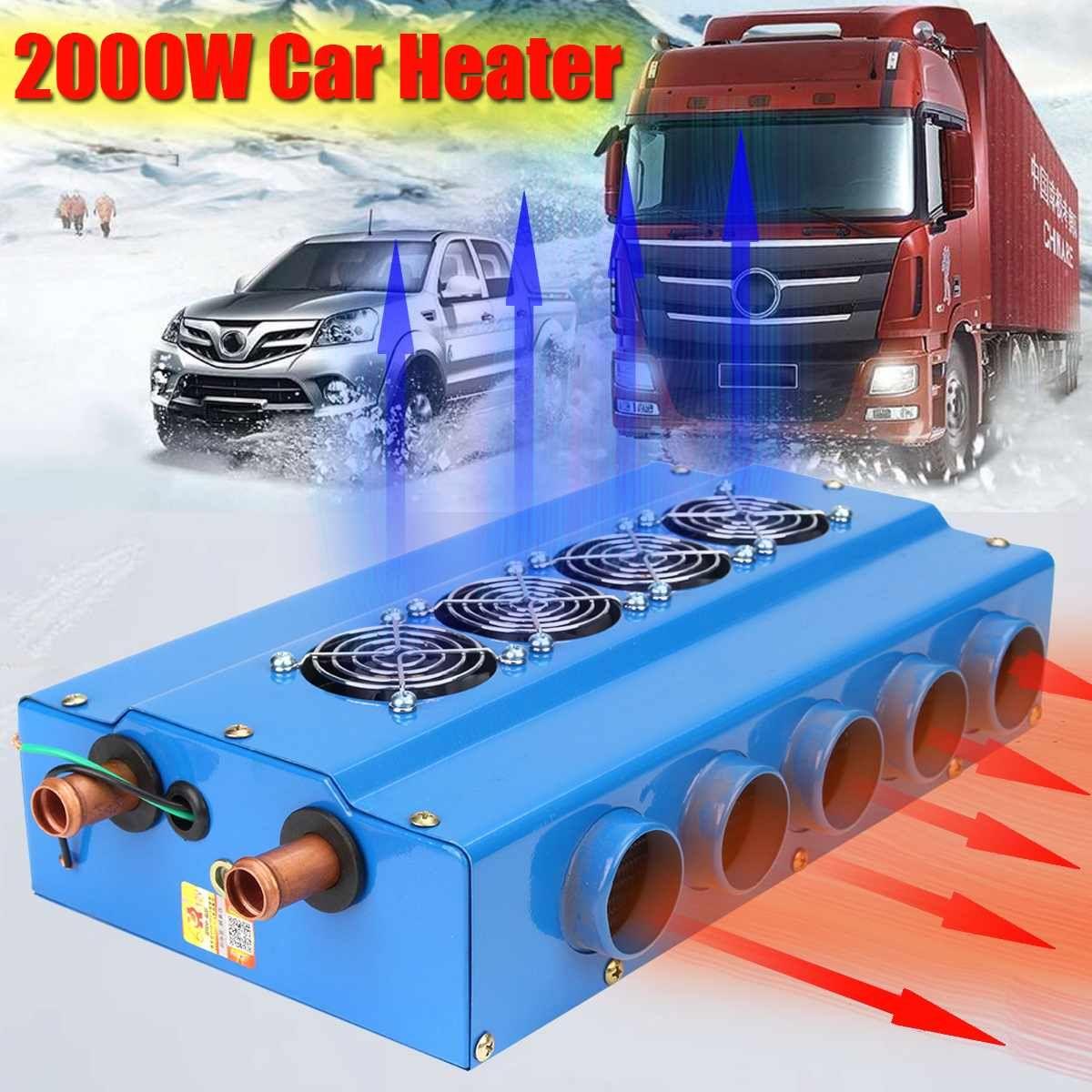 DC 12V chauffage de voiture électronique 2000W 16 racine Tube de cuivre gras 10 grand trou de vent radiateurs de voiture électrique