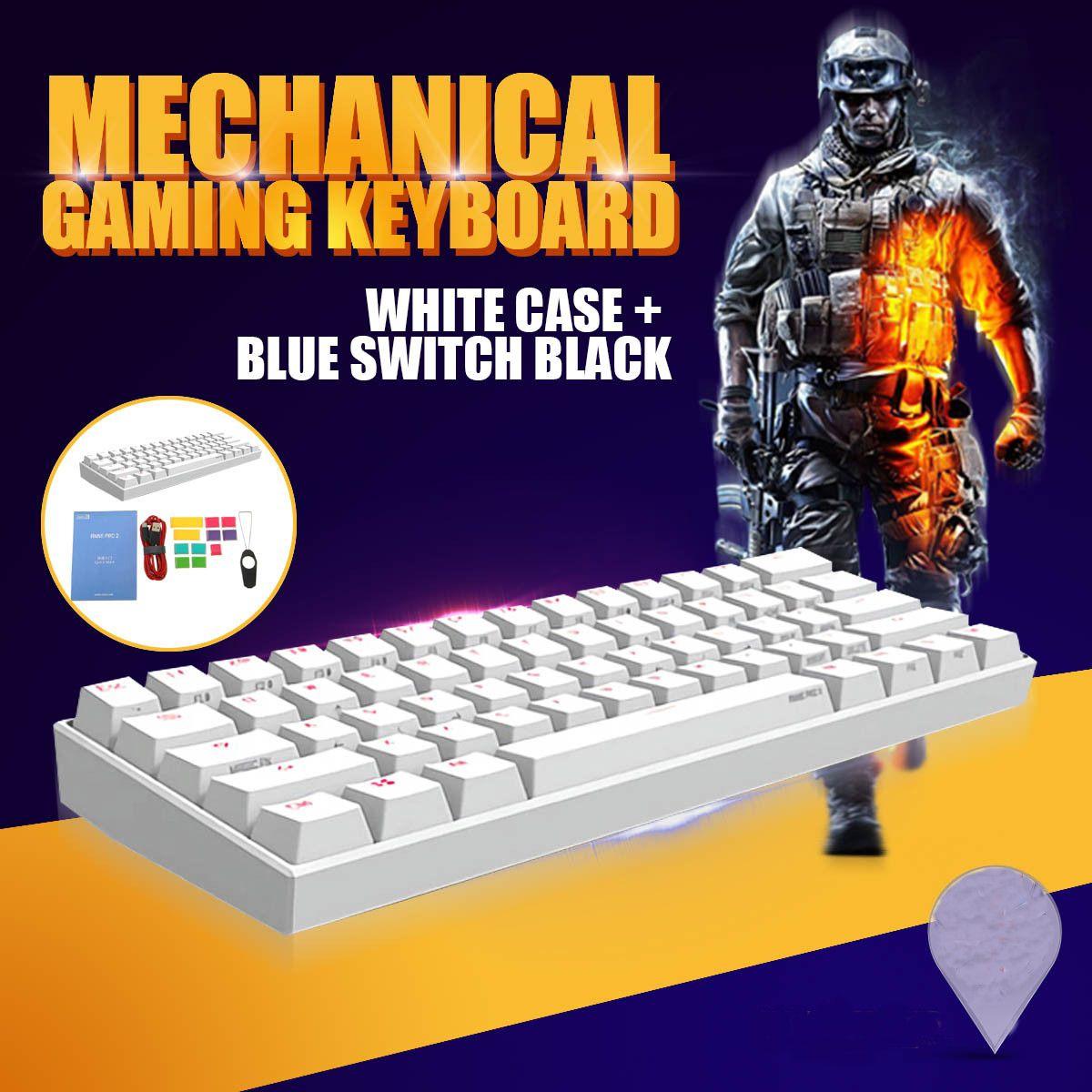 Obins Anne Pro 2 60% NKRO bluetooth 4.0 Type-C RGB Mechanical Gaming Keyboard Gateron Switch