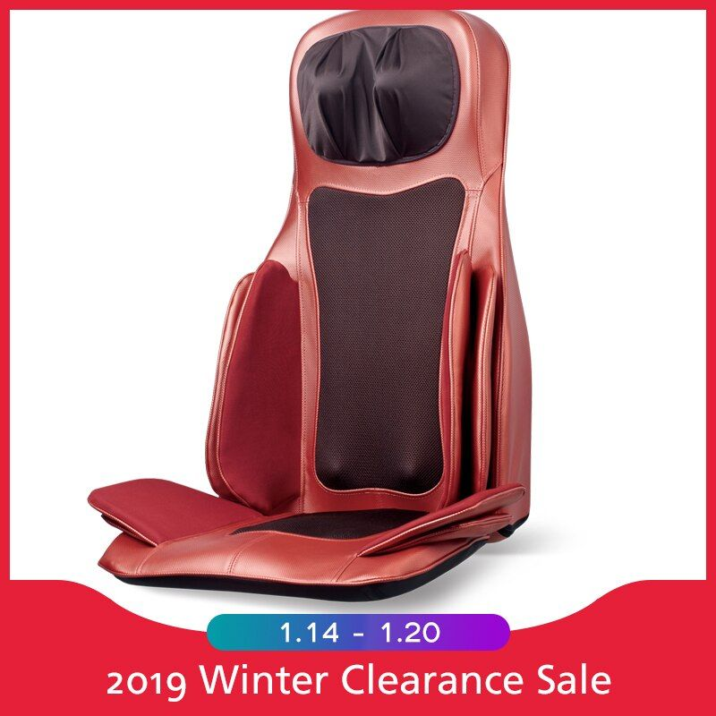 Electric Back Massager Cervical Heating Neck Shoulder Waist Air Pressure Kneading Massage Cushion For Chair Whole Body