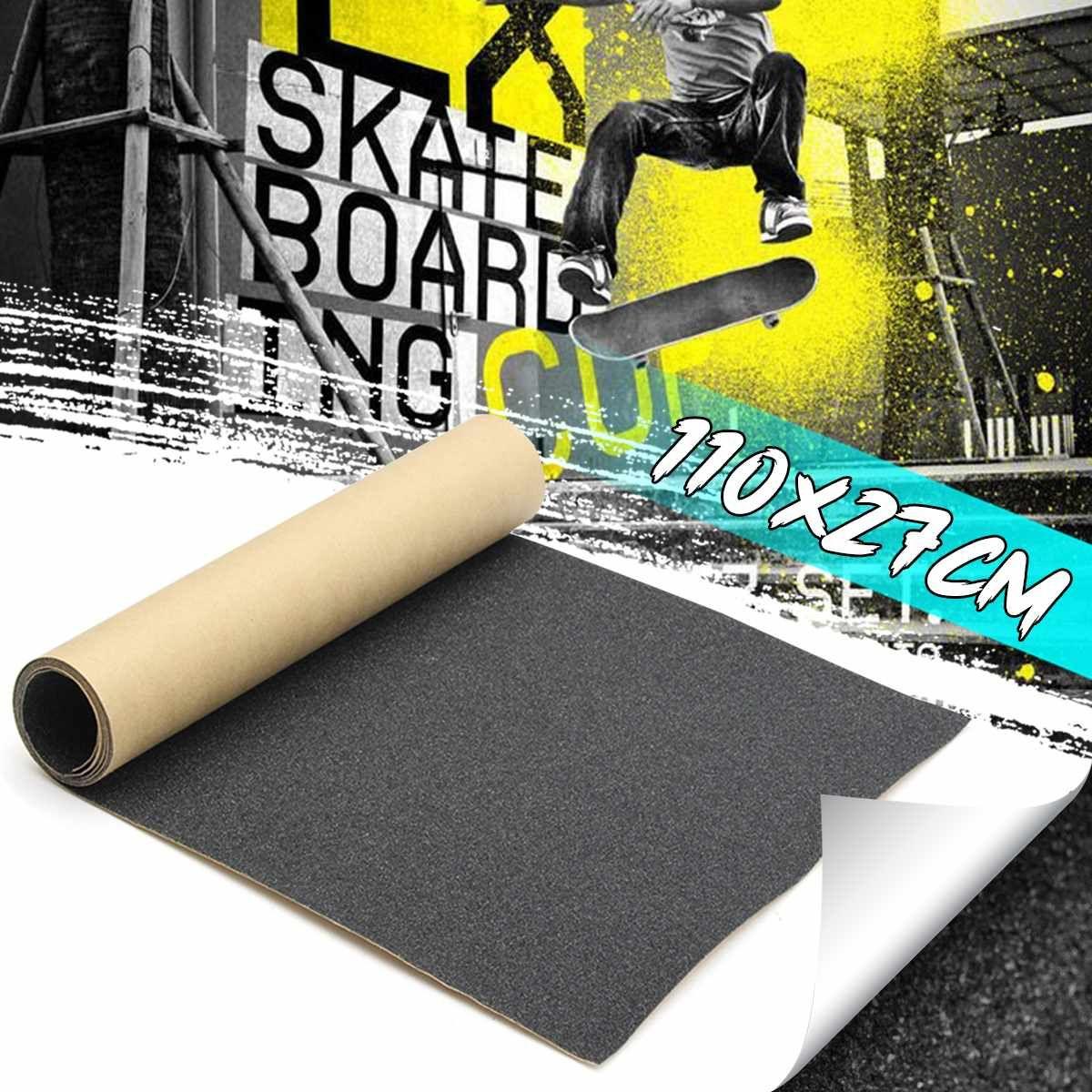 110x27cm Skateboard Grip Tape PVC Scooter Skateboard Sandpaper Deck Longboard Deck Griptapes DIY Longboard Griptape