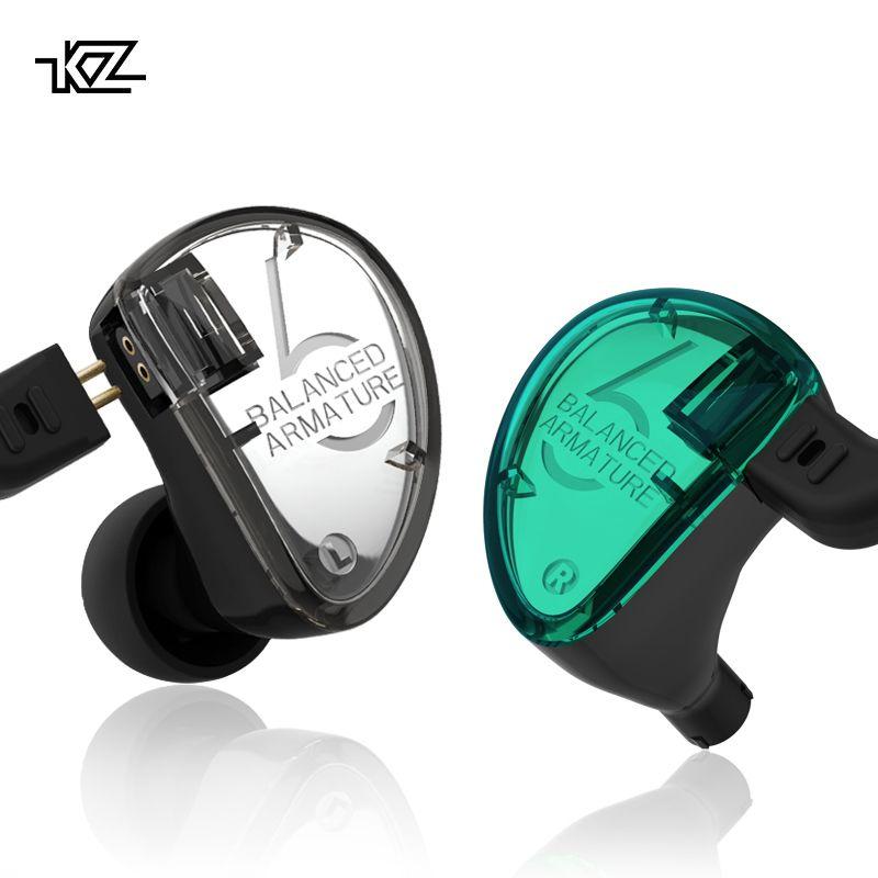 CCA KZ In Ohr Monitor Kopfhörer Kopfhörer Ausgewogene Anker Fahrer Hifi Bass Monitor Sport Headset Noise Cancelling Ohrhörer