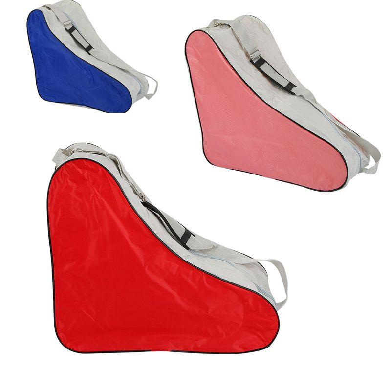 1 Piece Triangle Roller Skate Bag Portable Carry Shoulder Strap Portable Bag Case 3 Colors