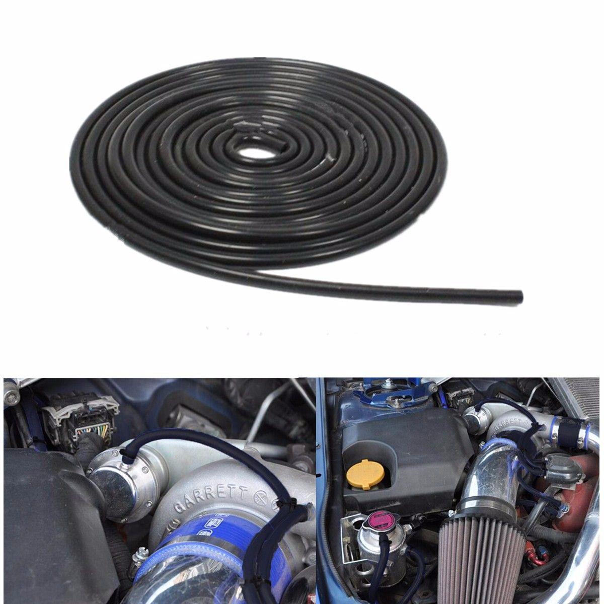 Tuyau de Silicone de tuyau de Tube de vide de Silicone de 4mm 16.4ft 500 cm pour le système de refroidissement de voiture noir