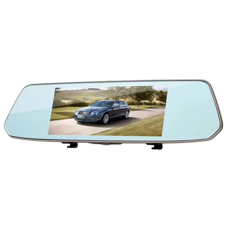 L1007 Rear View Mirror Travel Recorder 7 Inch High Definition Touch Screen Track Offset Reverse Image Recorder