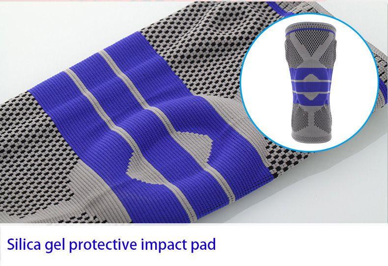 Pour grosse personne S-5XL grande taille Support de basket-ball silicone rembourré genouillères Support orthèse Protection de rotule genouillère de Protection