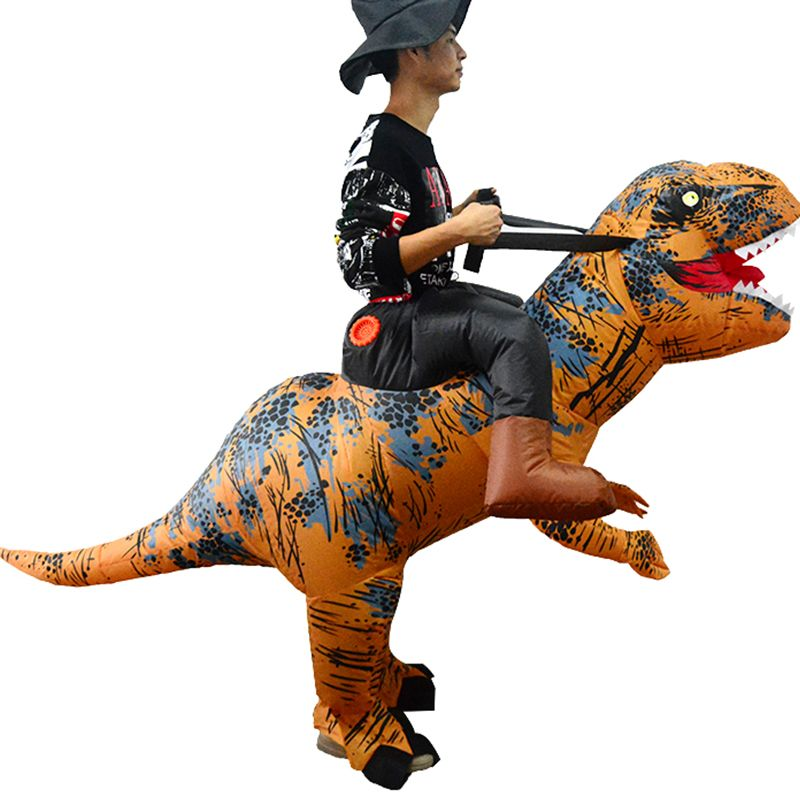 Halloween T-Rex Costume Blow Up Mascot Cosplay Clothes Dinosaur Riding Inflatable Costume Dino Cartoon Characters Fancy Dress