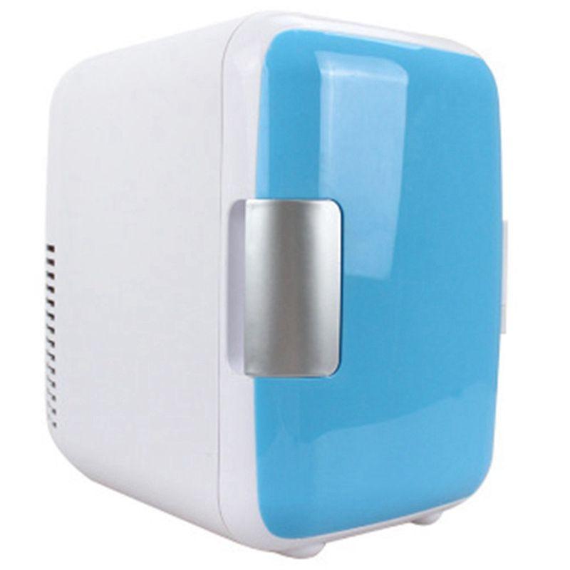 EAS-kleine refrigeratorDual-Verwenden 4L Hause Auto Verwenden Kühlschränke Ultra Ruhig Geräuscharm Auto Mini Kühlschränke Gefrierfach Kühlen