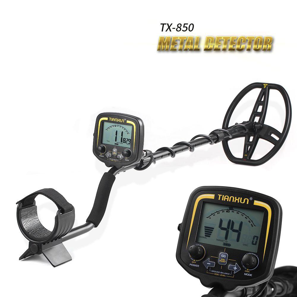 TIANXUN Portable LCD Display TX-850 Depth Metal Detector Underground Gold Hunter Finder High Sensitivity
