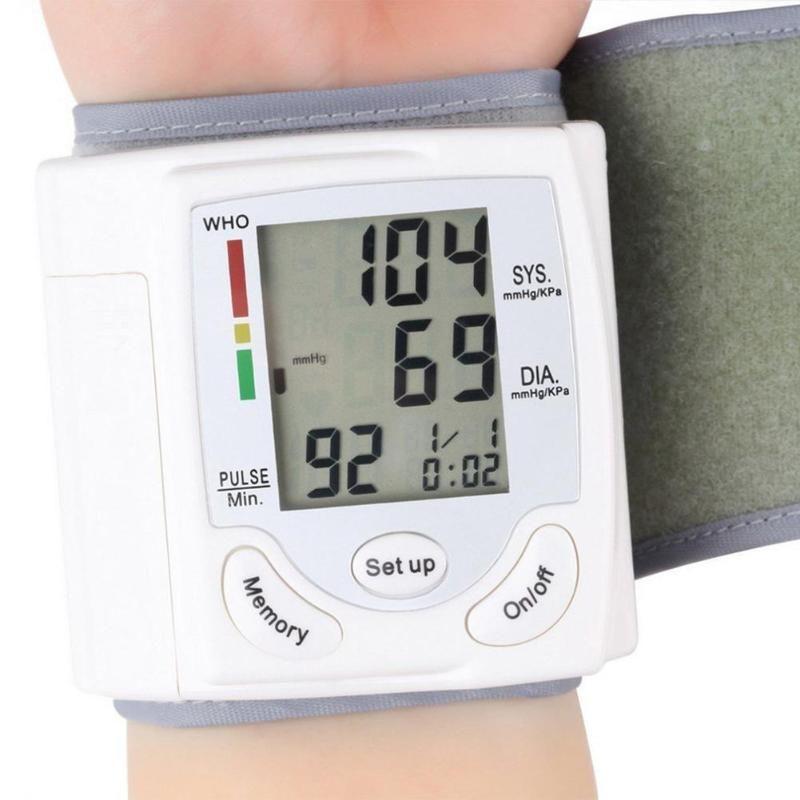 Arm Meter Pulse Wrist Blood Pressure Monitor Sphygmomanometer Heart Beat Rate Pulse Meter Automatic Medical Home Health Care