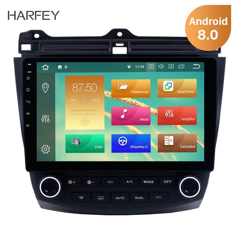 Harfey Android 8.0/8.1 10.1'' Car GPS Radio For Honda Accord 7 2003 2004 2005 2006 2007 Multimedia Player Touchscreen Head Unit