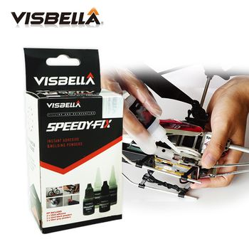 Visbella 7 Second Speedy Fix Bonding Glue for Metal Steel Plastic Wood Rubber Ceramic Reinforcing Adhesive Repair Hand Tool Set