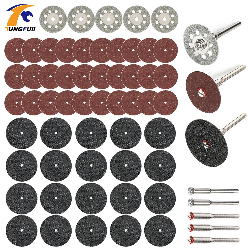 60pc diamond cutting discs sanding grinding wheel circular saw blade woodworking metal dremel mini drill rotary tool accessories