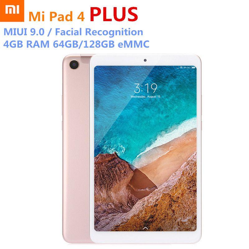 Multi-sprache Xiao mi mi Pad 4 Plus Tabletten Snapdragon 660 AIE 8620 mah 10,1 ''16:10 1920x1080 bildschirm 13MP 64 gb/128 gb PC LTE