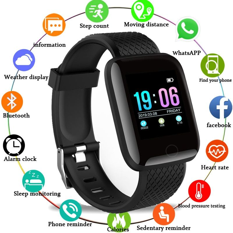 Smart Watch Men Blood Pressure Waterproof Smartwatch Women Heart Rate Monitor Fitness Tracker Watch GPS Sport For Android IOS