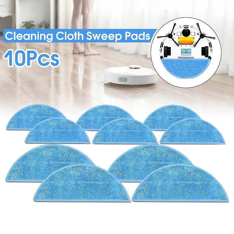 10 pcs Pro-Propre Éponger Chiffons Remplacement Pad De Couverture De Tissu Mop Cleaner Pièces Balayage Plaquettes pour ILIFE V3S/ v5S/V5 Robot de Balayage