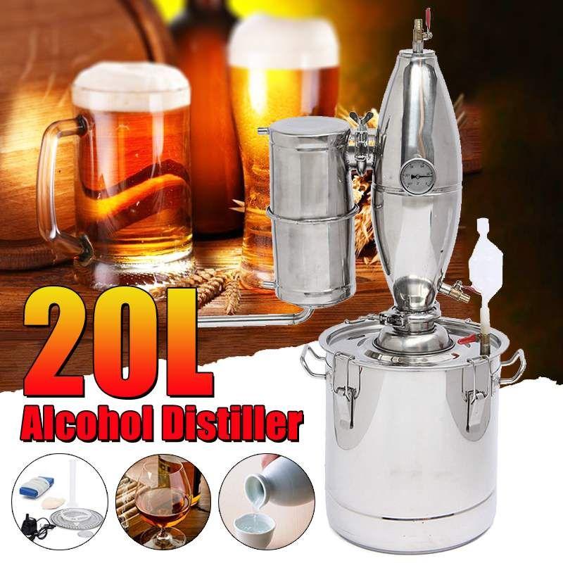 20L DIY Home Distiller Moonshine Alkohol Edelstahl Kupfer Wasser Wein Ätherisches Öl Brauen Kit