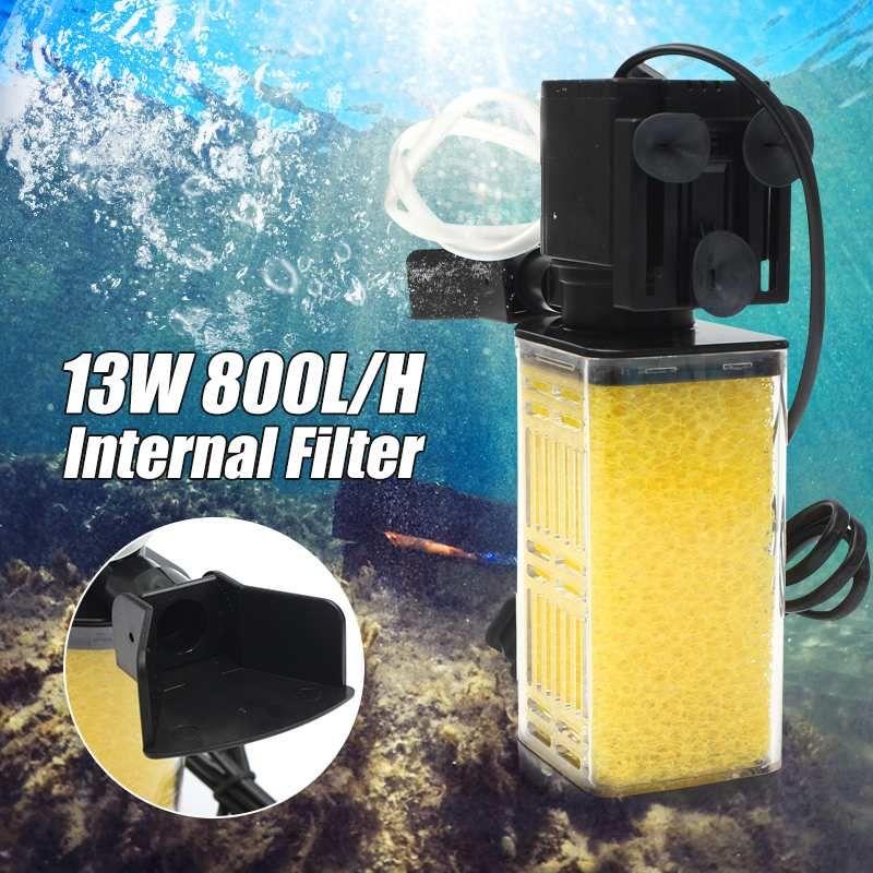 13 W 800L/H Air oxygène Aquarium Submersible filtre interne Filtration pompe à eau Aquarium réservoir de poissons