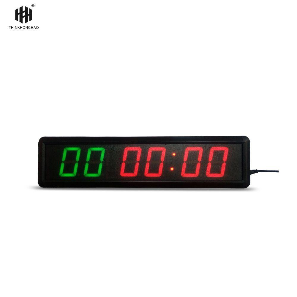Interne programm 6 Ziffern LED Countdown-Uhr Workout Timer Für Garage Home Gym Crossfit Training EMOM Tabata Fitness Timer