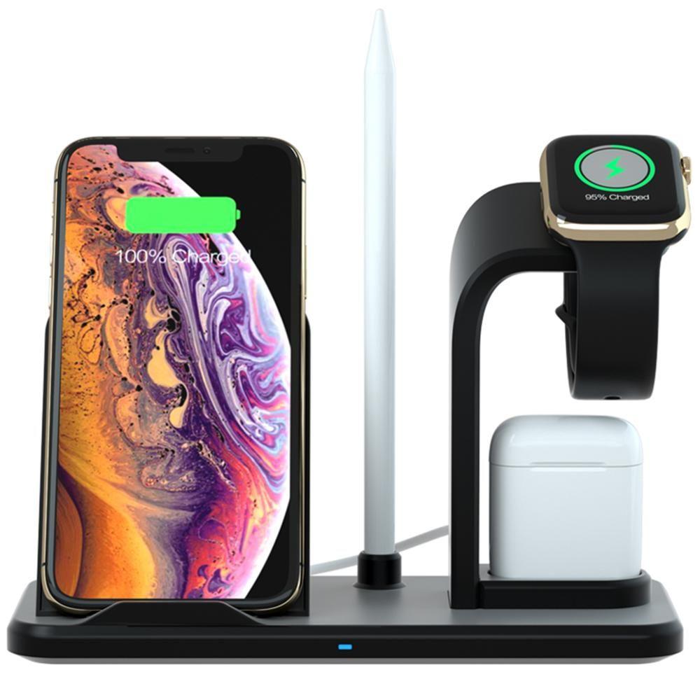 3 en 1 support de chargeur sans fil pour iPhone Qi chargeur rapide Dock Station de charge groupe Vertical pour apple Watch AirPods