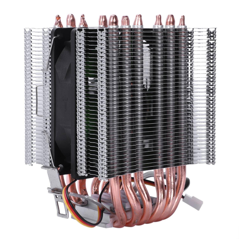Lanshuo 6 Caloduc 3 Fils Sans Lumière Unique Ventilateur ventilateur cpu Radiateur Dissipateur De Chaleur Pour Intel Lga 1155/1156/1366 Refroidisseur Thermique