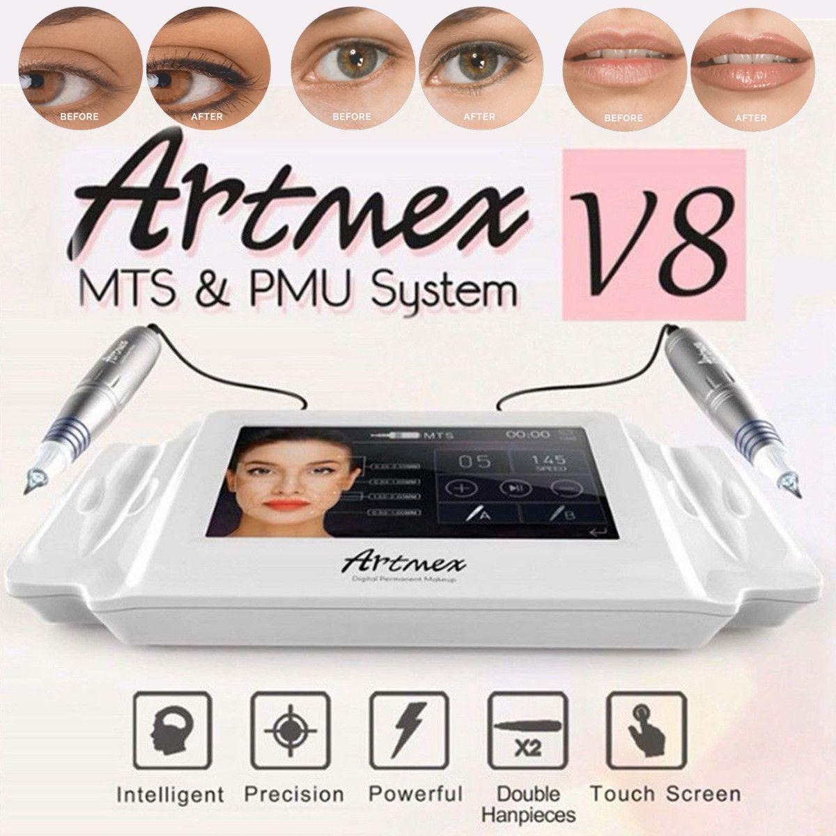 Artmex V8 Permanent Make-Up Tattoo Maschine Augenbraue Eyeliner Lippen MTS Tattoo Guns Gesichts Therapie Anti Alterung Tattoo Maschinen