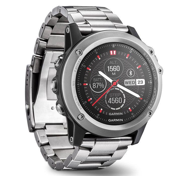 Original Garmin FENIX 3 Bluetooth 4,0 Saphir Spiegel Zifferblatt Smart Uhr 100 m Wasserdicht Thermometer GPS Kompass Höhenmesser Uhr
