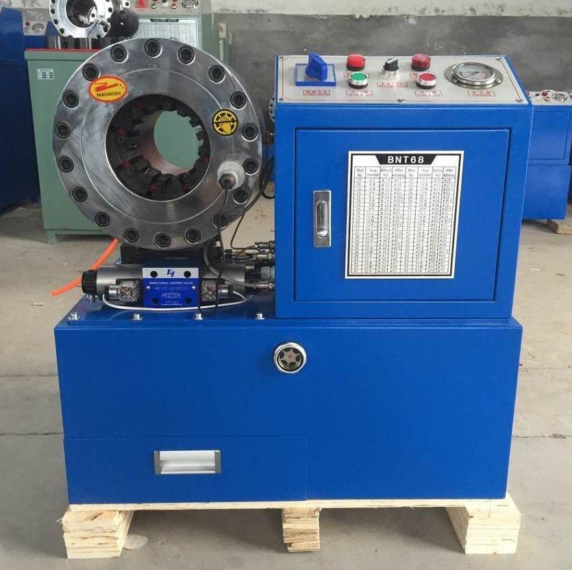 Einfach zu bedienen BNT68 neue zustand 380 v oder 220 v 3kw 2 zoll halbautomatische hydraulische schlauch crimpen maschine für verkauf