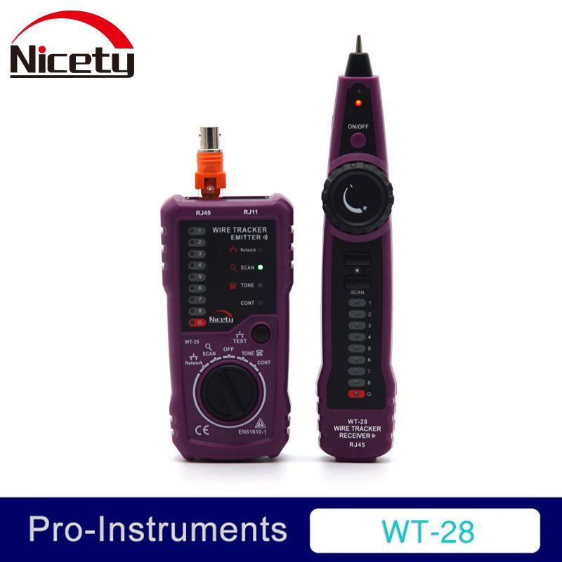 Nicety WT-28 RJ11 RJ45 téléphone fil Tracker Toner Ethernet LAN réseau câble testeur détecteur ligne Finder