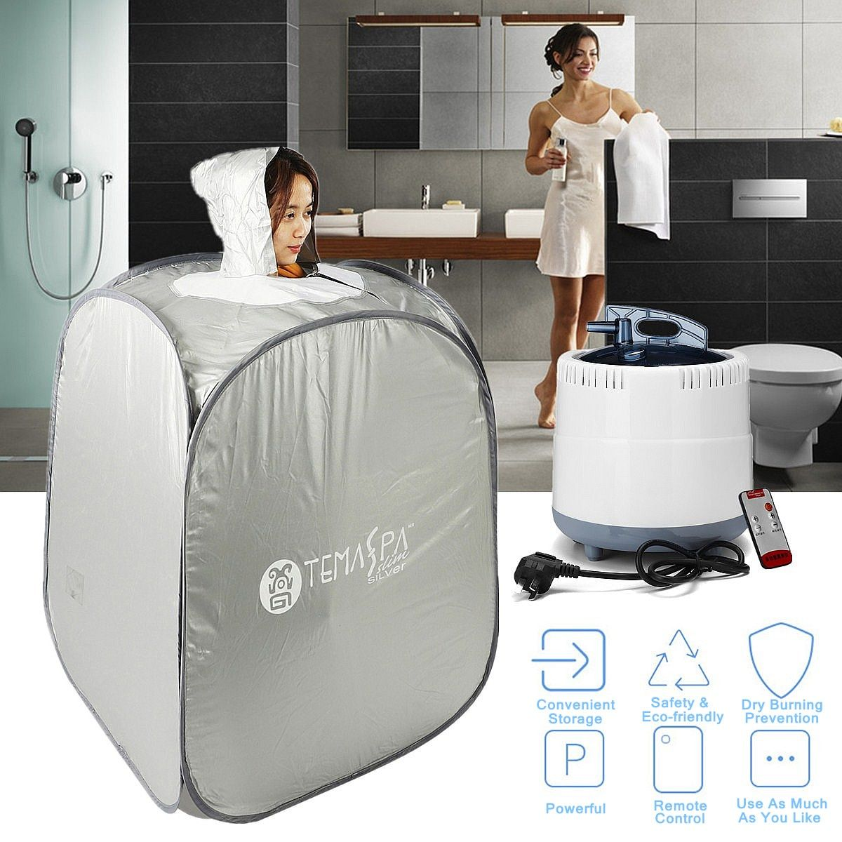 Indoor 2L 220 V 60Hz 1000 W Faltbare Tragbare Dampf Sauna Zelt Verlust Gewicht Abnehmen Haut Spa AU stecker Für Körperpflege