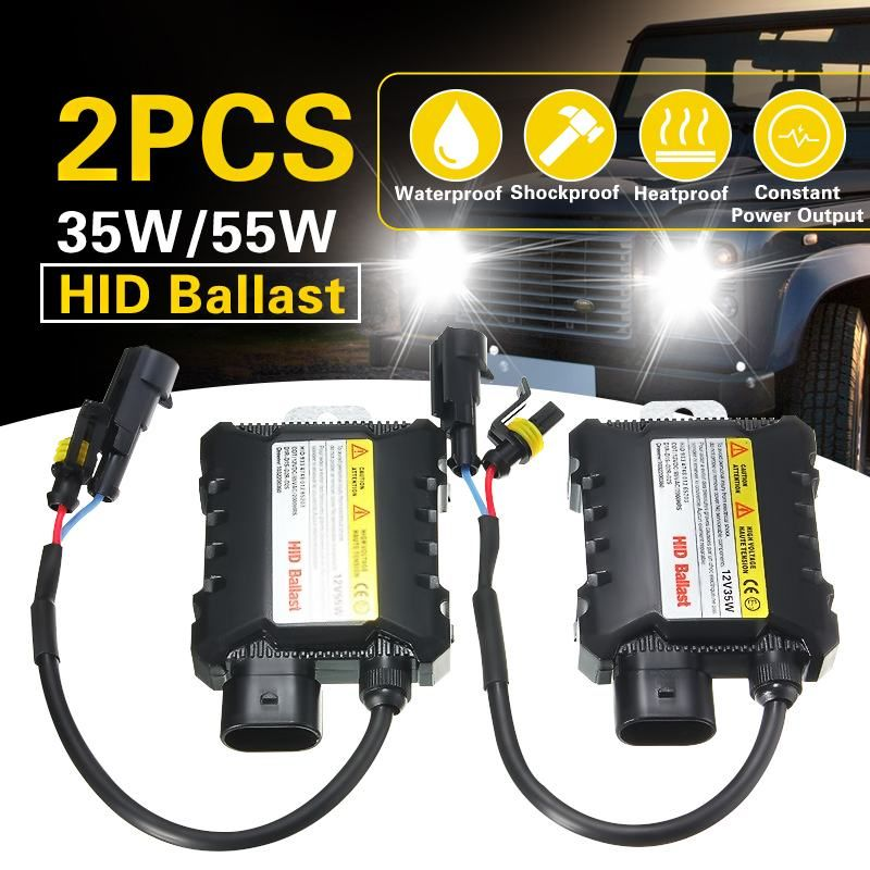 2pcs 12V hid xenon ballast 35W/55W Digital slim hid ballast ignition electronic ballast for H1 H3 H3C H4-1 H4-2 H7 H8 9005 9006