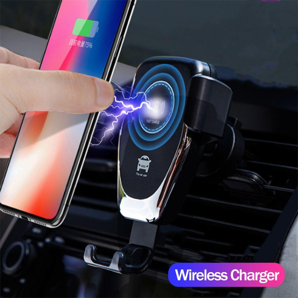 RAPIDE 10 W voiture sans fil Chargeur ventilation Montage support pour téléphone Pour iPhone XS Max Samsung S9 Xiaomi de MÉLANGE 2 S Huawei Compagnon 20 Pro 20 RS