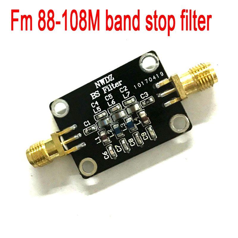 2018 Kit Nodemcu diffusion filtre d'arrêt de bande Fm (piège 88-108 Mhz) pour rtl-sdr Blog récepteurs à ondes courtes 1-3000 mhz gamme de fréquences