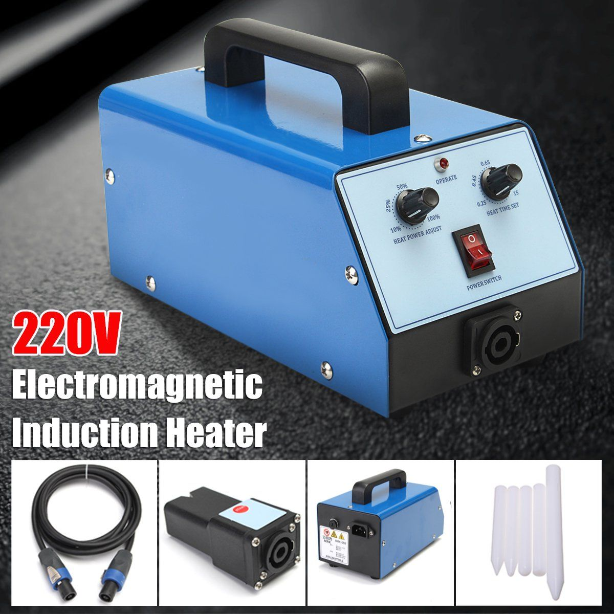 220V 1100W Blue Car Paintless Dent Repair Remover PDR Induction Heater Hot Box Electromagnetic Induction Heater For Repair Tool