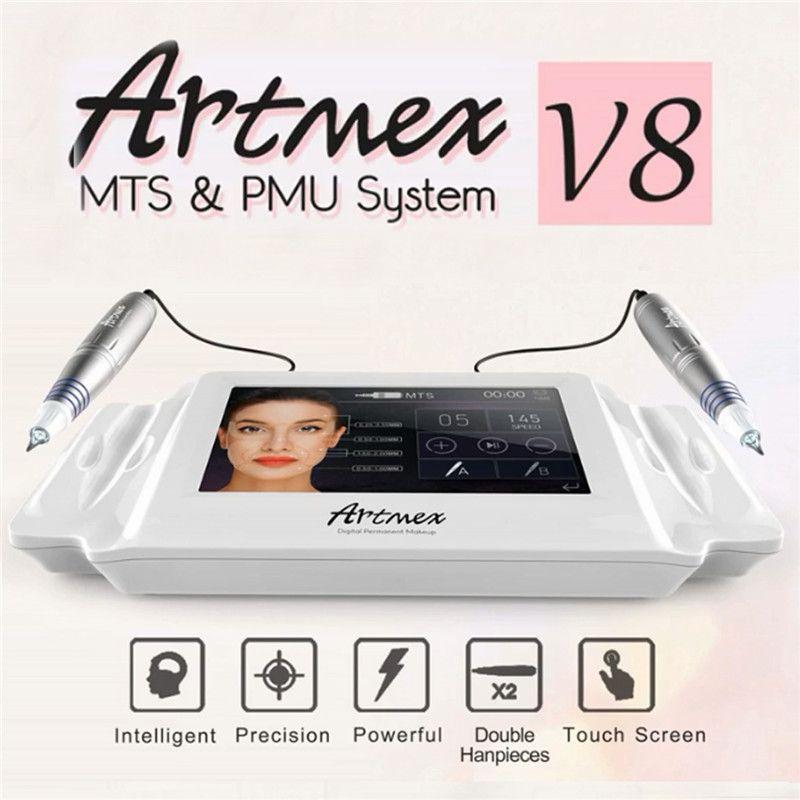 Artmex V8 Permanent Make-Up Tattoo Maschine Digitale Elektrische Eye Brow Lip Pen Dreh MTS PMU System Make-Up Maschine 100- 240 v AC