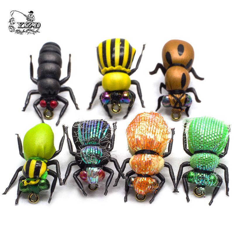 Sec Fly mouches pour la pêche Ensemble 16-24 pièces Insectes Leurre Jaune Fruits FlyTying Kit Arc-En-Truite Mouches Pêche À L'achigan Assortiment pêche à la mouche