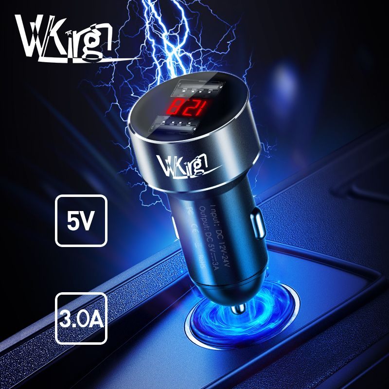 VVKing 5V 3.0A Max Dual USB Car Charger For Huawei Xiaomi Samsung S8 iPhone X 8 Plus Phone Tablet etc Adapter in USB Car Metal