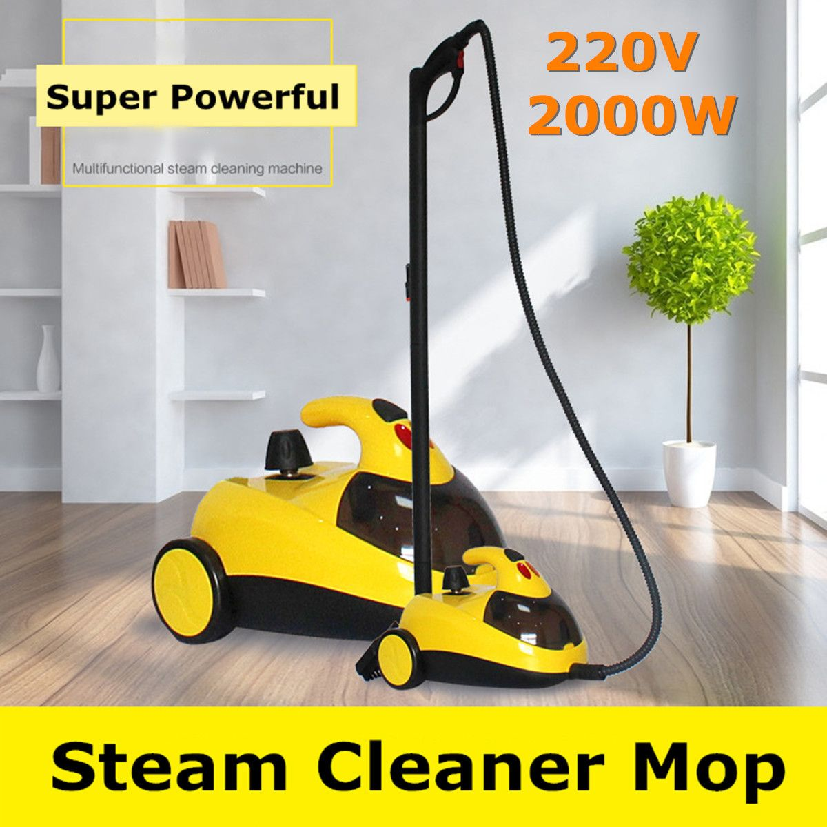 Boden Teppich Reiniger 13in1 AU220V 1.5L4.0 2000 W Bar Hochdruck Dampf Washer Reinigung Maschine 360 Rad für Sauberes Bad auto