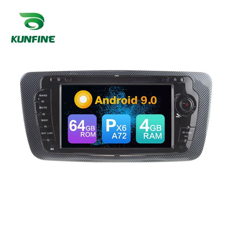Android 9.0 Core PX6 A72 Ram 4G Rom 64G Auto DVD GPS Multimedia-Player Autoradio Für Seat ibiza 2009-2013 radio steuergerät 3G wifi