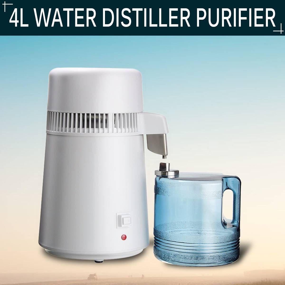 4L Haushalts Reines Wasser Distiller Destilliertem Wasser Maschine Destillation Purifier Edelstahl Wasser Filter Maschine Gesundheit