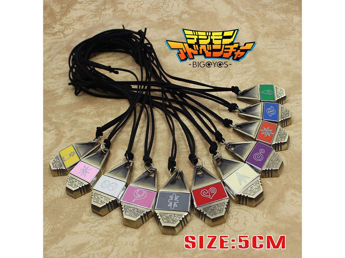Digimon Adventure Digital Monster Mut/Freundschaft/Liebe/Hoffen Evolution Abzeichen Magnetische Anhänger Halskette Seil Sammlung Geschenk