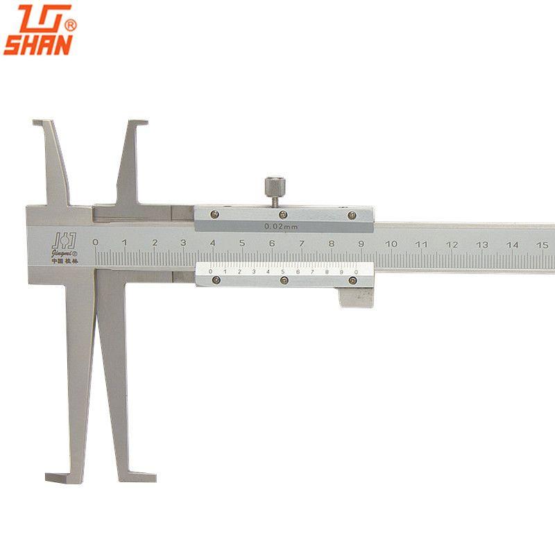 Pied à coulisse à rainures intérieures SHAN 9-150mm/0.02 pieds à coulisse intérieurs en acier inoxydable Double griffe professionnel